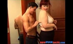 bbw  boy with mom  lady  mature  woman