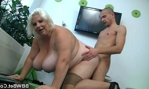 blonde mature  doggystyle  lady  tits