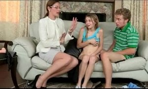 3some  hardcore  step dad  stepmother  strapon