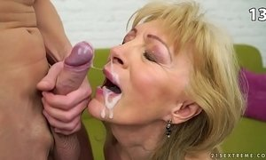 cumshots  facials  granny  old granny