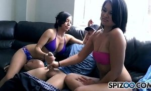 jerking mom  stepbrother